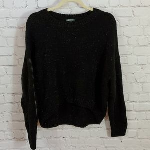 Wild Fable L Black Sparkly Sweater